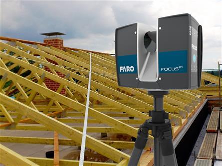 Dachvermessung mit Laserscanner Faro